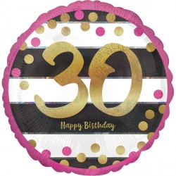 PINK & GOLD 30 BIRTHDAY STANDARD S40 PKT