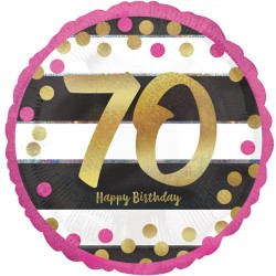 PINK & GOLD 70 BIRTHDAY STANDARD S40 PKT