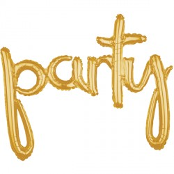PARTY GOLD SCRIPT PHRASE SHAPE G40 PKT