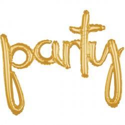 PARTY GOLD SCRIPT PHRASE SHAPE G40 PKT