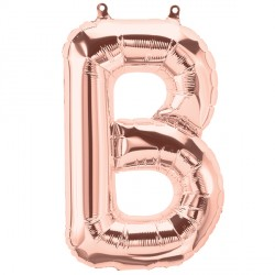 "ROSE GOLD LETTER B 16"" PKT"