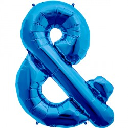 "BLUE AMPERSAND & SHAPE 34"" PKT"