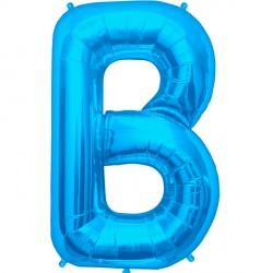 "BLUE LETTER B SHAPE 34"" PKT"