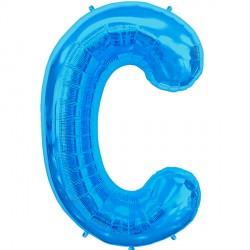 """BLUE LETTER C SHAPE 34"""" PKT"""