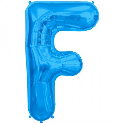 "BLUE LETTER F SHAPE 34"" PKT"