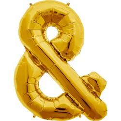 "GOLD AMPERSAND & SHAPE 34"" PKT"