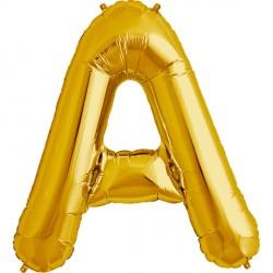 """GOLD LETTER A SHAPE 34"""" PKT"""
