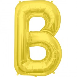 "GOLD LETTER B SHAPE 34"" PKT"