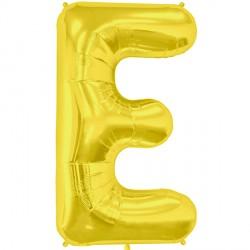 "GOLD LETTER E SHAPE 34"" PKT"