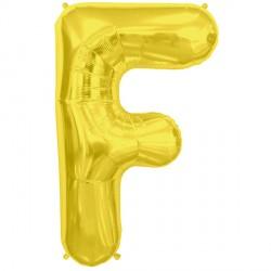"GOLD LETTER F SHAPE 34"" PKT"