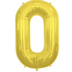 "GOLD LETTER O SHAPE 16"" PKT"