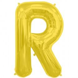 "GOLD LETTER R SHAPE 16"" PKT"