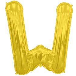 "GOLD LETTER W SHAPE 16"" PKT"
