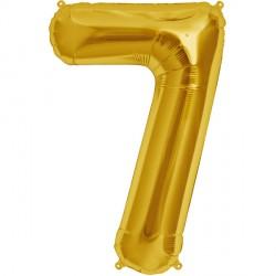 """GOLD NUMBER 7 SHAPE 16"""" PKT"""