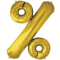 """GOLD % PERCENT SYMBOL SHAPE 34"""" PKT"""