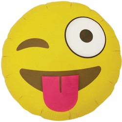 "EMOJI WINKING NORTH STAR 18"" PKT"
