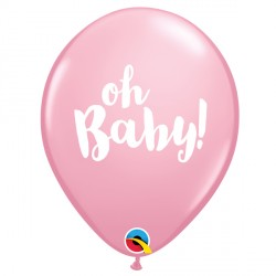 """OH BABY! 11"""" PINK (25CT) LAC"""