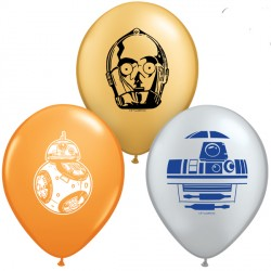 "STAR WARS DROIDS 5"" ORANGE, SILVER & GOLD (100CT) UJ"
