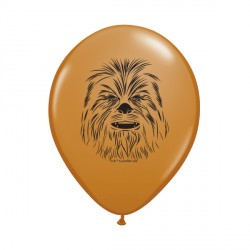 "STAR WARS CHEWBACCA FACE 5"" MOCHA BROWN (100CT)"