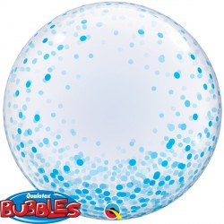 "CONFETTI DOTS BLUE 24"" DECO BUBBLE"