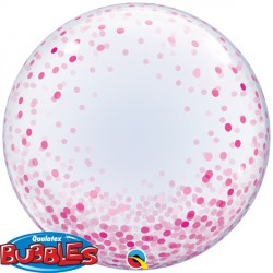"CONFETTI DOTS PINK 24"" DECO BUBBLE"