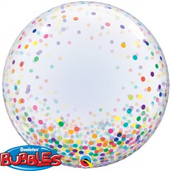 "CONFETTI DOTS COLOURFUL 24"" DECO BUBBLE"