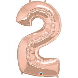 ROSE GOLD NUMBER 2 SHAPE GROUP D