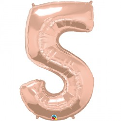 ROSE GOLD NUMBER 5 SHAPE GROUP D