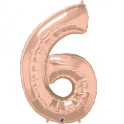 ROSE GOLD NUMBER 6 SHAPE GROUP D