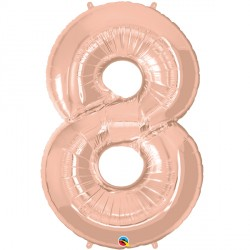 ROSE GOLD NUMBER 8 SHAPE GROUP D