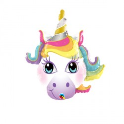 "UNICORN MAGICAL 14"" MINI SHAPE INFLATED WITH CUP & STICK"