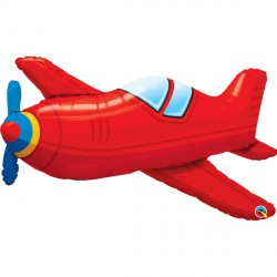 """RED VINTAGE AIRPLANE 36"""" SHAPE GROUP C PKT"""