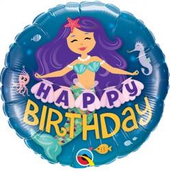 "MERMAID HAPPY BIRTHDAY 18"" PKT"