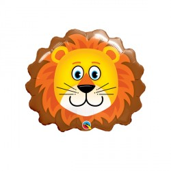 "LOVABLE LION 14"" MINI SHAPE INFLATED WITH CUP & STICK"