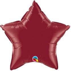"BURGUNDY STAR 20"" FLAT Q"