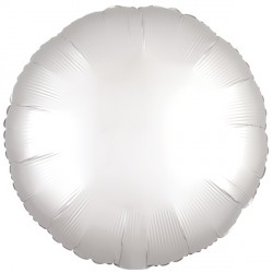 WHITE SATIN LUXE ROUND STANDARD S15 FLAT A