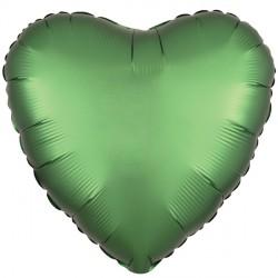 EMERALD SATIN LUXE HEART STANDARD S15 FLAT A