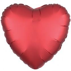 SANGRIA SATIN LUXE HEART STANDARD S15 FLAT A