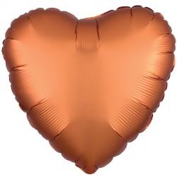 AMBER SATIN LUXE HEART STANDARD S15 FLAT A