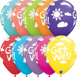 "GET WELL SUNSHINE 11"" RETAIL ASSORTED (6X6CT)"