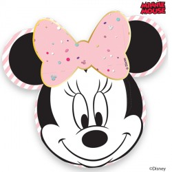 MINNIE MOUSE PARTY GEM FACE PAPER PLATES (4CT X 6 PACKS)