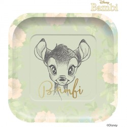 BAMBI CUTIE SQUARE PAPER PLATES (4CT X 6 PACKS)