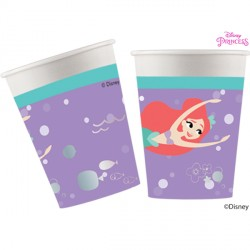 DISNEY ARIEL UNDER THE SEA PAPER CUPS  (8CT X 6 PACKS)