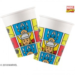 AVENGERS POP COMIC PAPER CUPS  (8CT X 6 PACKS)