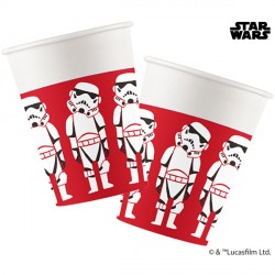 STAR WARS PAPER CUT PAPER CUPS  (8CT X 6 PACKS)