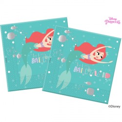 DISNEY ARIEL UNDER THE SEA PAPER NAPKINS 3-PLY (20CT X 6 PACKS)