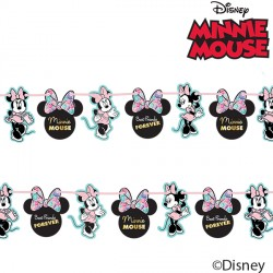 MINNIE MOUSE PARTY GEM PAPER GARLAND KIT (1CT X 6 PACKS)