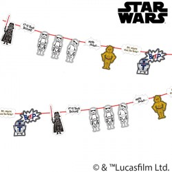 STAR WARS PAPER CUT PAPER GARLAND KIT (1CT X 6 PACKS)