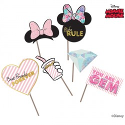 MINNIE MOUSE PARTY GEM PHOTO PROPS (6CT X 6 PACKS)
