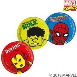 AVENGERS POP COMIC LARGE PAPER PLATE (8CT X 6 PACKS)